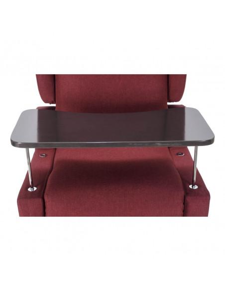 Fauteuil relax invalides Erika avec accoudoirs extractibles et table, inclinaison électrique indépendante et système releveur