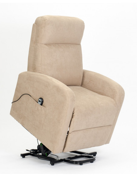 Fauteuil relax électrique motorisé à 1 moteur. Fauteuil releveur dossier moelleux. Mouvement dos et pieds combiné